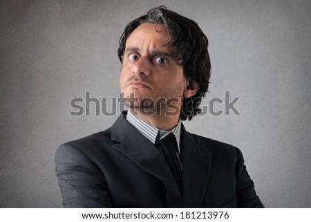 severe man - stock photo
