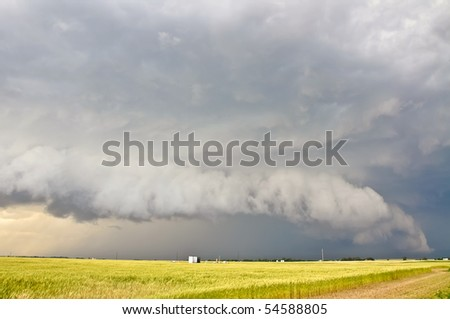 Severe storm approaching - stock photo