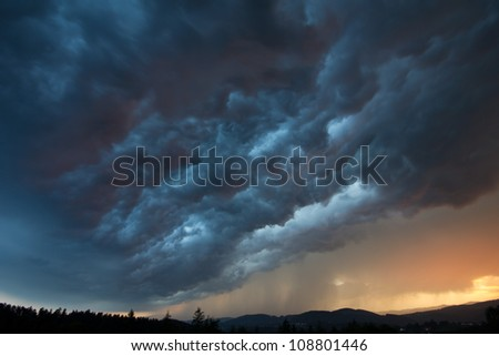 severe weather - stock photo