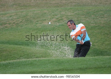 Severiano Ballesteros, Open de France Alstom, Golf National, Albatros course, Paris, june 2006