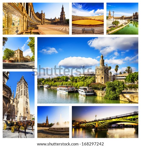 Seville Collage, Andalusia, Spain. - stock photo