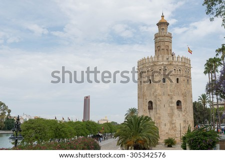 SEVILLE, SPAIN - MAY 4, 2015: Gold's Tower (Torre del Oro)