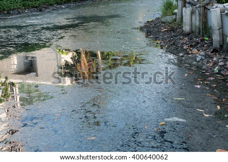 Sewage and bad smell - stock photo