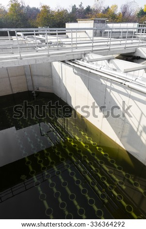 sewage treatment station, color effect
