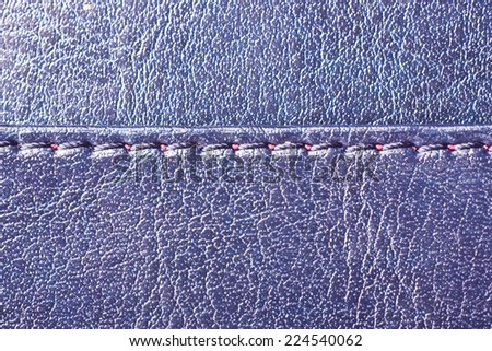 sewed leather texture.  - stock photo