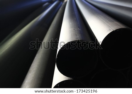 sewer pipe industry - stock photo