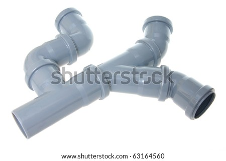 sewer pipes - stock photo