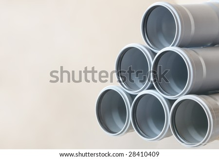 sewer pipes background - stock photo