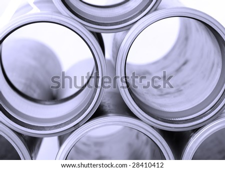sewer pipes closeup - stock photo