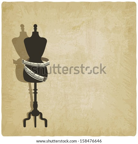 sewing background - raster version - stock photo