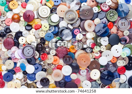 sewing buttons background - stock photo