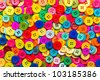 Sewing buttons background. Colorful sewing buttons texture  - stock photo