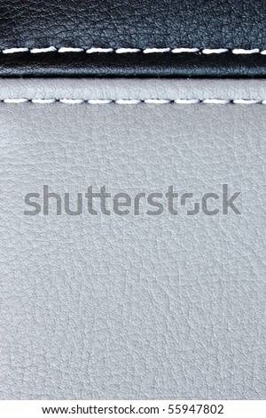 sewing leather background - stock photo