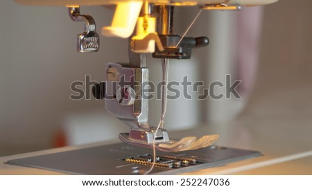 sewing machine needle close-up