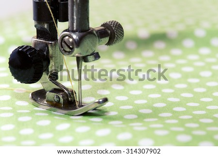 sewing machine - sewing process in the phase of sewing