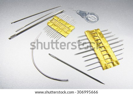 Sewing Needles - stock photo