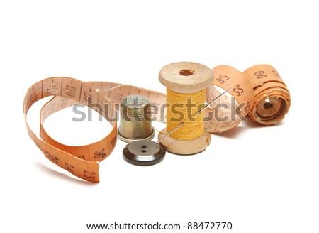 Sewing stuff close-up - stock photo