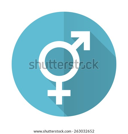 sex blue flat icon gender sign