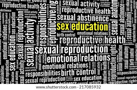 Sex Education in word collage