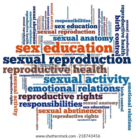 Sex education in word collage - stock photo