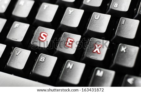 SEX word on  keyboard - stock photo