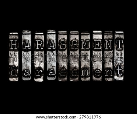 Sexual harassment concept - stock photo