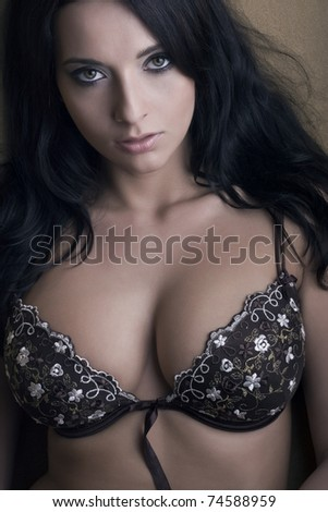 sexy beautiful girl in bra