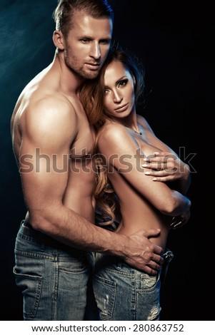 Sexy beauty couple  - stock photo
