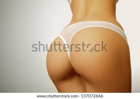 sexy butt girls in underwear - stock photo