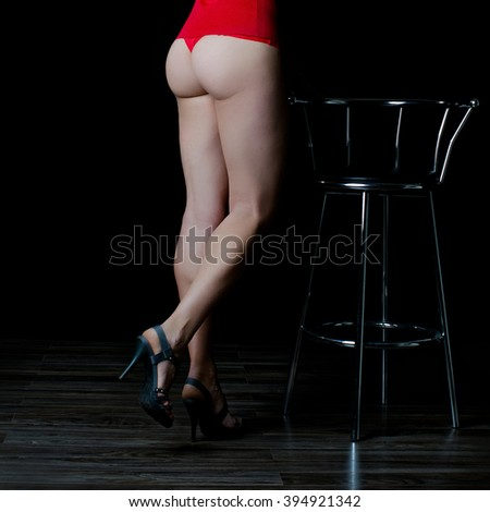 Sexy buttocks and muscular legs - stock photo