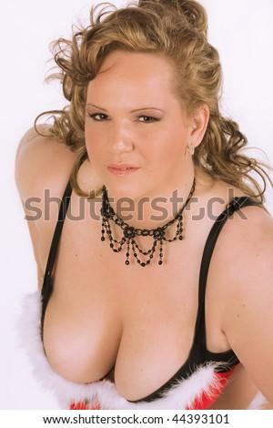 sexy curvy  girl,BBW - stock photo