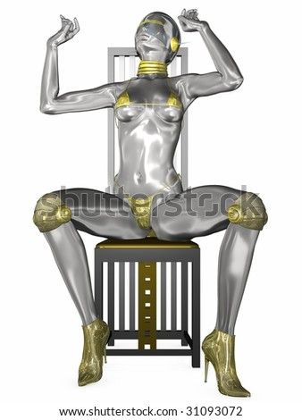 Sexy Cyborg - stock photo
