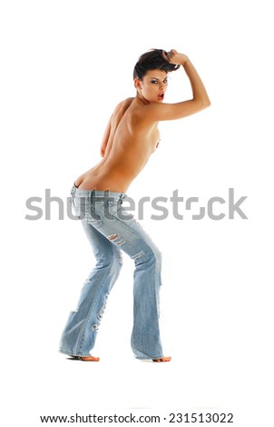 Sexy dancer - stock photo