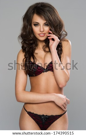 lingerie dark pics haired
