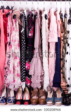 Sexy fashionable clothes and shoes - stock photo