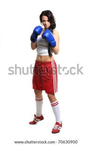 Sexy fighter - stock photo