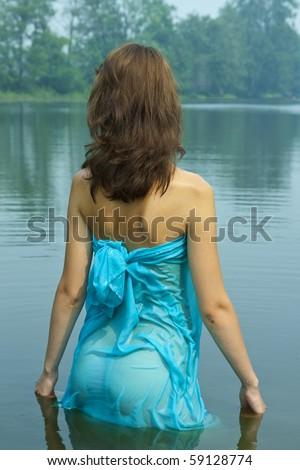 Sexy girls in wet dress