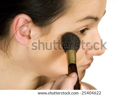 Sexy girl putting make-up