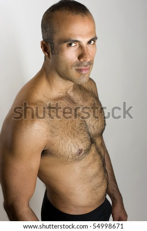Sexy Hispanic Man - stock photo