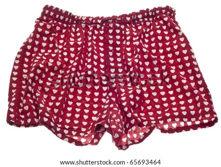 Sexy Men Heart Boxer Shorts.  Isolated on White with a Clipping Path. - stock photo