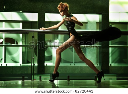 Sexy modern woman - stock photo