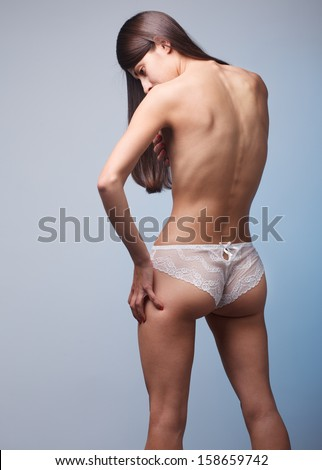 stock photo sexy naked woman from behind