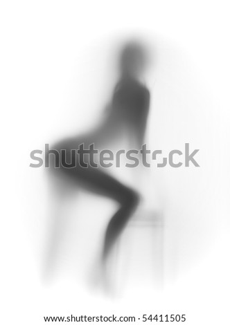 Sexy nude woman silhouette