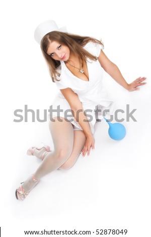 Sexy nurse. A series of photos about medicine and health - stock photo