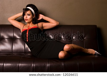 Sexy Pin-up girl. - stock photo