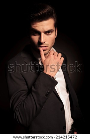 beautiful young man stock photo 244879762 shutterstock. Black Bedroom Furniture Sets. Home Design Ideas
