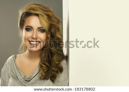 Sexy smiling woman  - stock photo