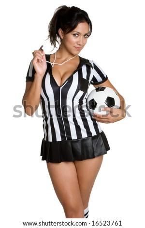 Sexy Soccer Referee - stock photo