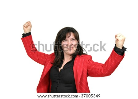 sexy sucessefully businesswoman, business financial photo - stock photo