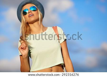 Sexy summer girl - stock photo